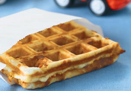 Yummy Bacon & Cheddar Waffles