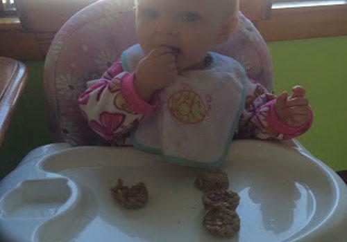 Baby Banana-Oatmeal Bites