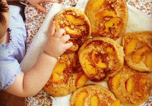 Coconut Peach Pancakes Recipe