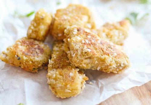 Quinoa Crumbed Fish Fingers