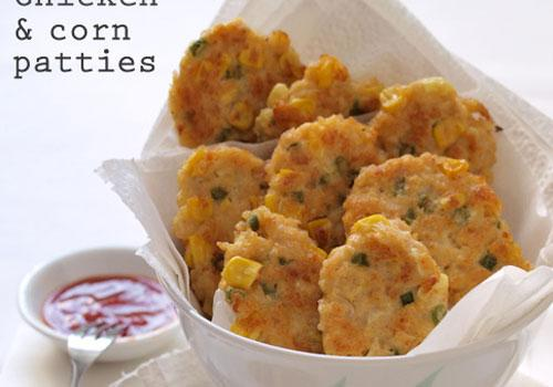 Chicken and Corn Patties Reciipe