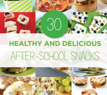 30 Healthy and Delicious After-School Snacks - We have compiled a list of 30 awesome after school snack ideas that will keep your kids out of the chip bag and cookie jar! All of these quick after school snacks include some kind of fruit or veggie and most can be made ahead in batches.