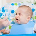 Baby Makes a Funny Face When Eating Baby Food