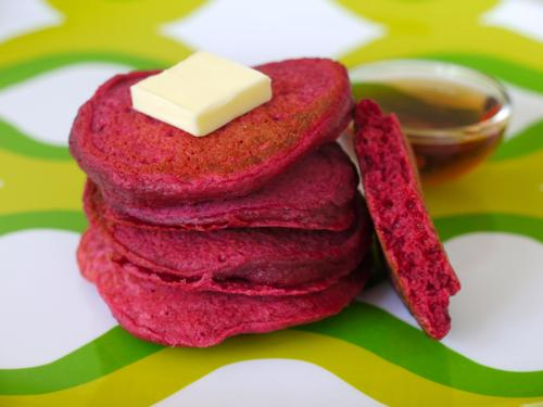 Red Beet Pancakes Recipe