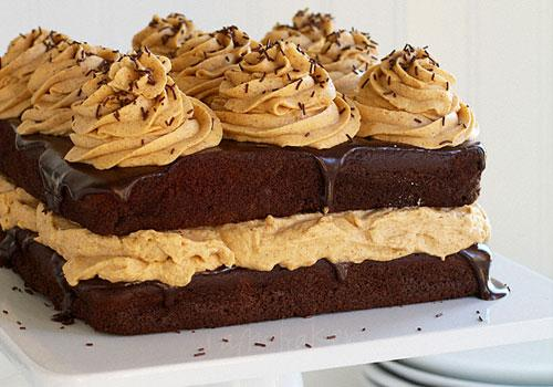 Pumpkin Desserts- Chocolate Pumpkin Cake.