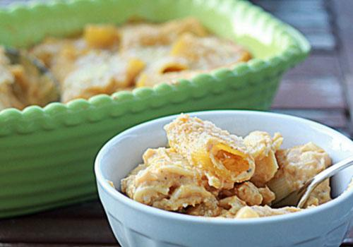Creamy Pumpkin Baked Rigatoni