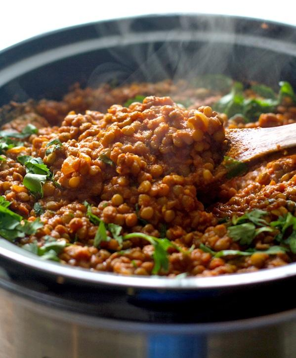 Crock Pot Indian Recipes- Red Lentil Curry. Slow Cooker Indian Recipes