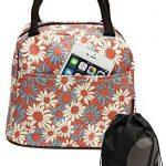 Daisy Pattern Lunch Bag Tote