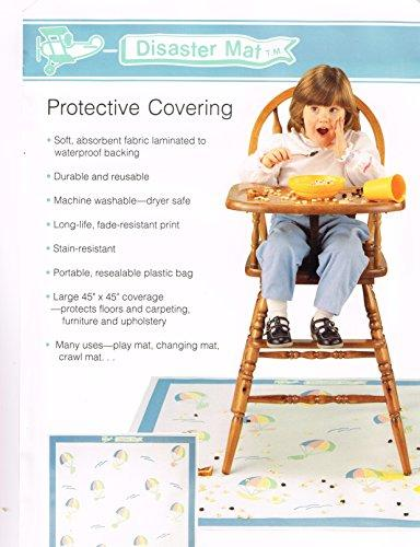Disaster Mat-Soft Absorbable Machine Washable mat to keep your floors clean during meal time.