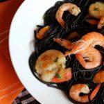 Black Pasta- Easy Italian Back Pasta with Shrimp and Scallops