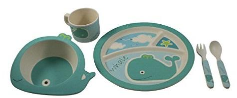 Feeding My Kid's Top Picks: EcoBamboo Ware Kids Whale Bamboo Dinnerware Set. Perfect for little hands and a great plastic alternative!