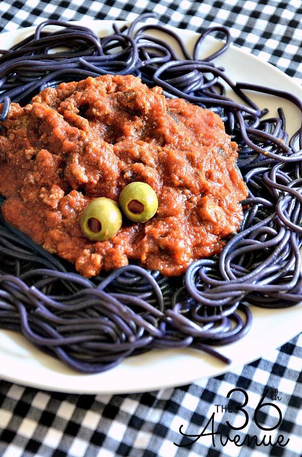 Black Pasta - Halloween Spaghetti