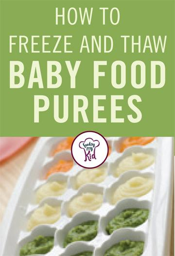 Freezing food doesn't have to be hard. Learn how to freeze baby food in this helpful article. #freezingfood #freezingtips #FeedingMyKid