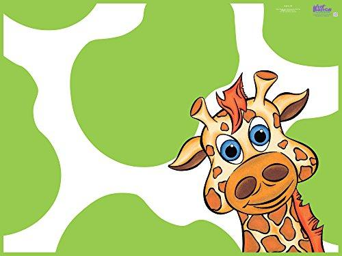 KidKusion High Chair Splat Mat. Super cute and can be used on linoleum, wood, stone, slate, tile and carpeted floors to prevent stains. Just wipe clean with soap and water. Folds away for storage