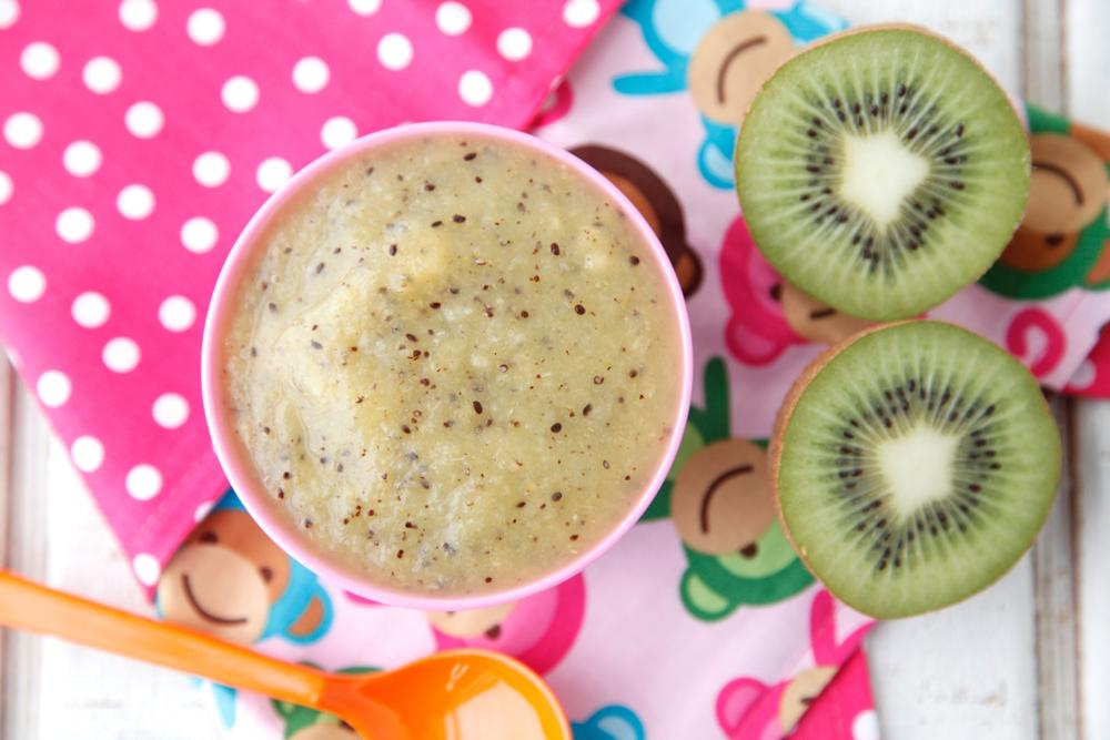 Homemade Baby Food Puree-Kiwi Peach Puree