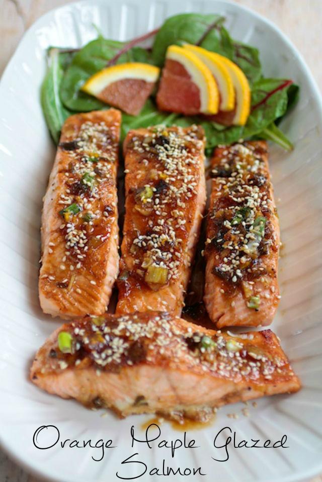 Sukkot Recipes- Maple Orange Glazed Salmon. Jewish Foods.