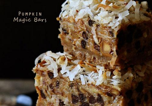 Pumpkin Desserts- Pumpkin Magic Bars.