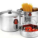 Pasta Cooker Steamer Multipots with Encapsulated Bottom