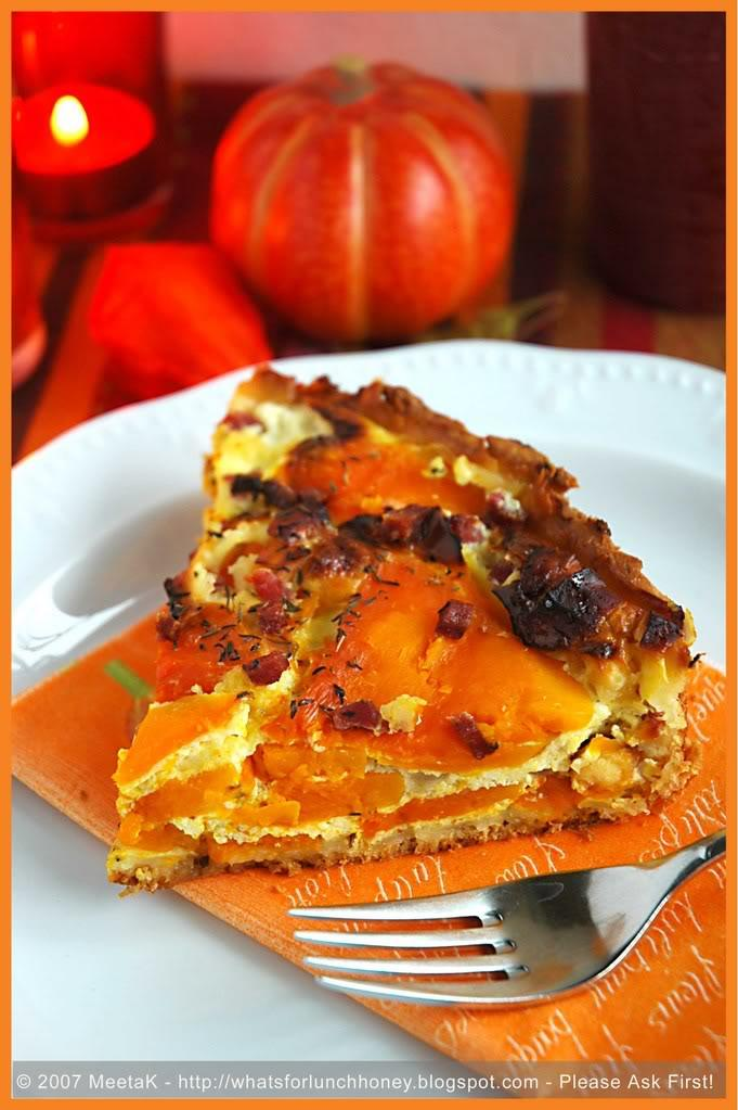 Pumpkin and Feta Tart Recipe