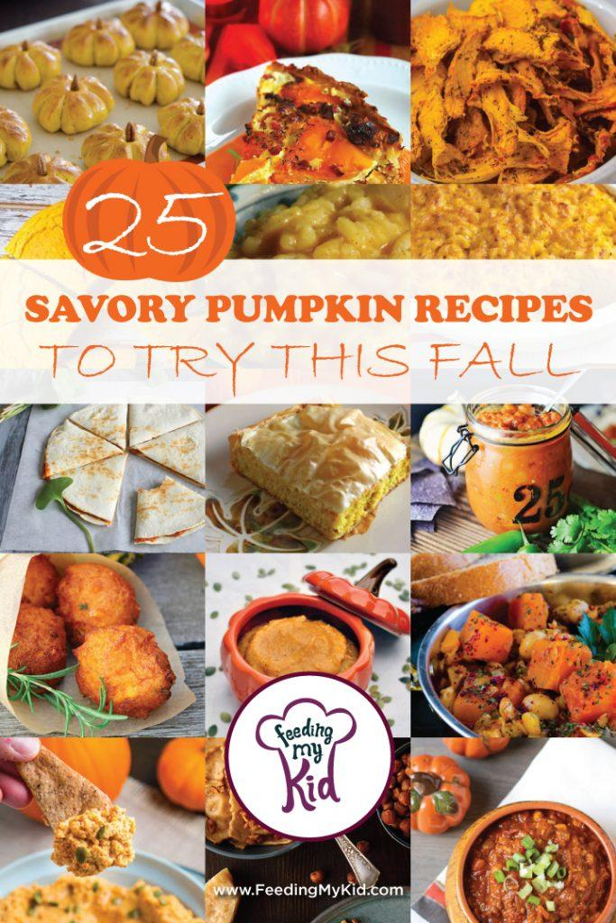 25 Savory Pumpkin Recipes To Try This Fall. Fall is my favorite season! When September rolls around, pumpkin flavor is everywhere! Check out our list of savory pumpkin recipes to bring this delicious fall favorite to the dinner table.