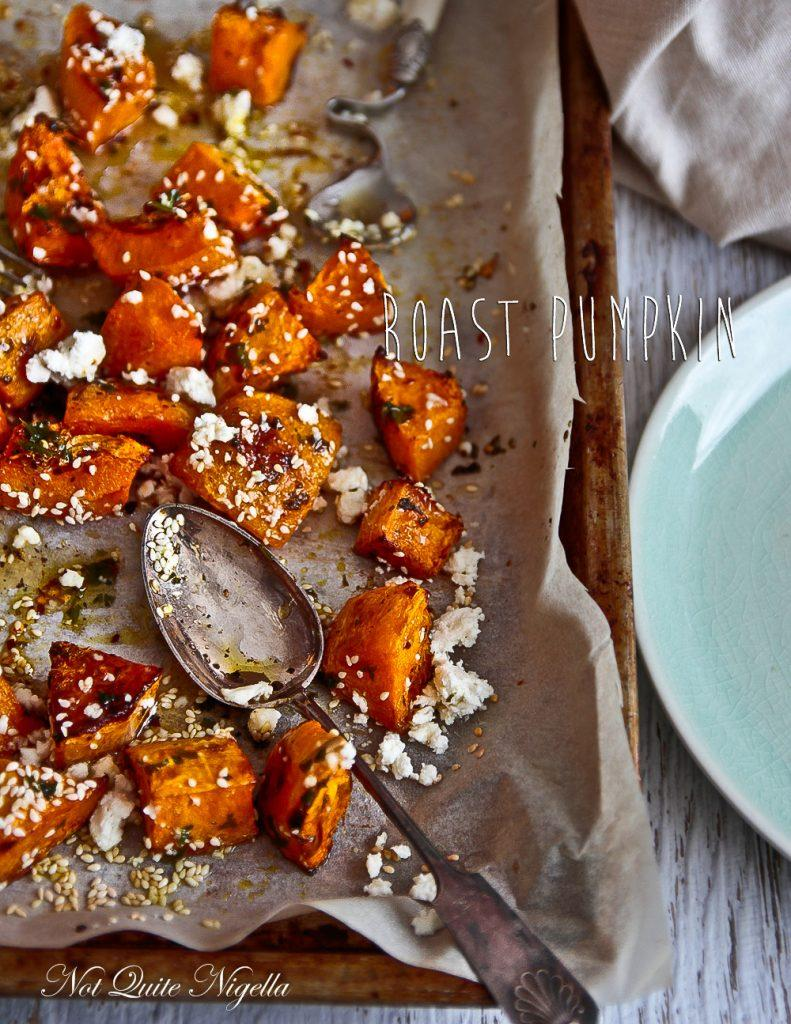 Savory Pumpkin Recipes- Roasted Pumpkin with Feta