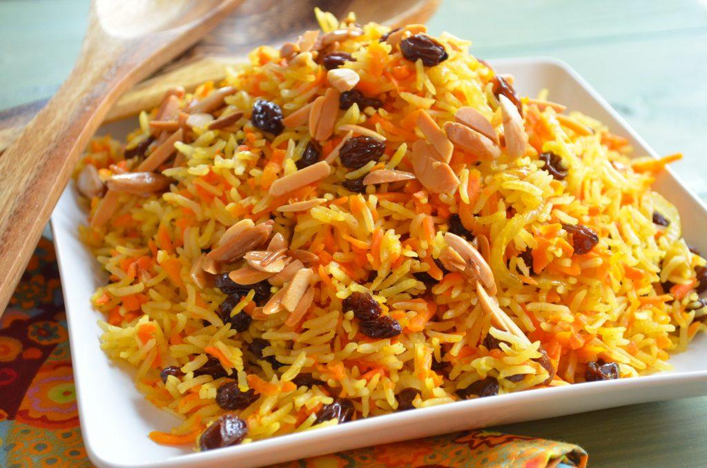Rosh Hashanah- SWEET BASMATI RICE WITH CARROTS & RAISINS