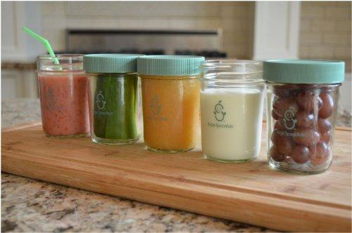 Baby Food Making Tools-Sage Spoonfuls Baby Food Jars Sage Glass