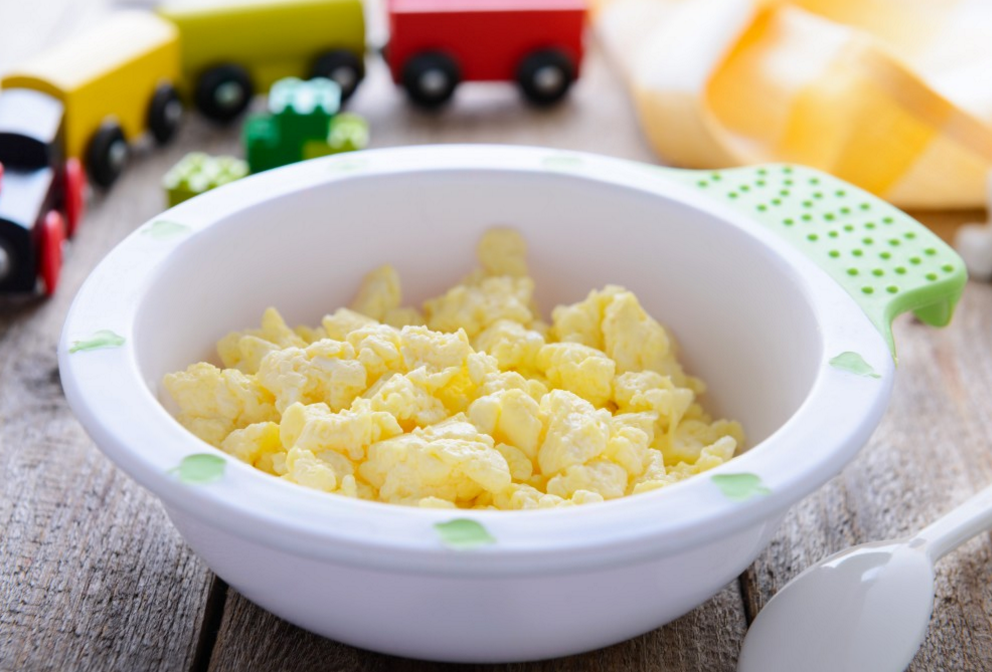 Scrambled Eggs are a great finger food for babies