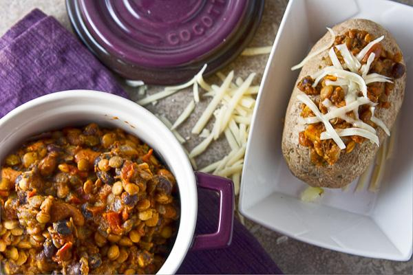 Slow Cooker Lentil and Pumpkin Chili Recipe