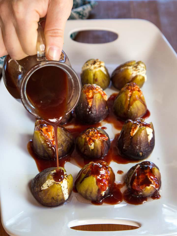 Sukkot Recipes- Stuffed Figs with Goat Cheese. Jewish Foods.