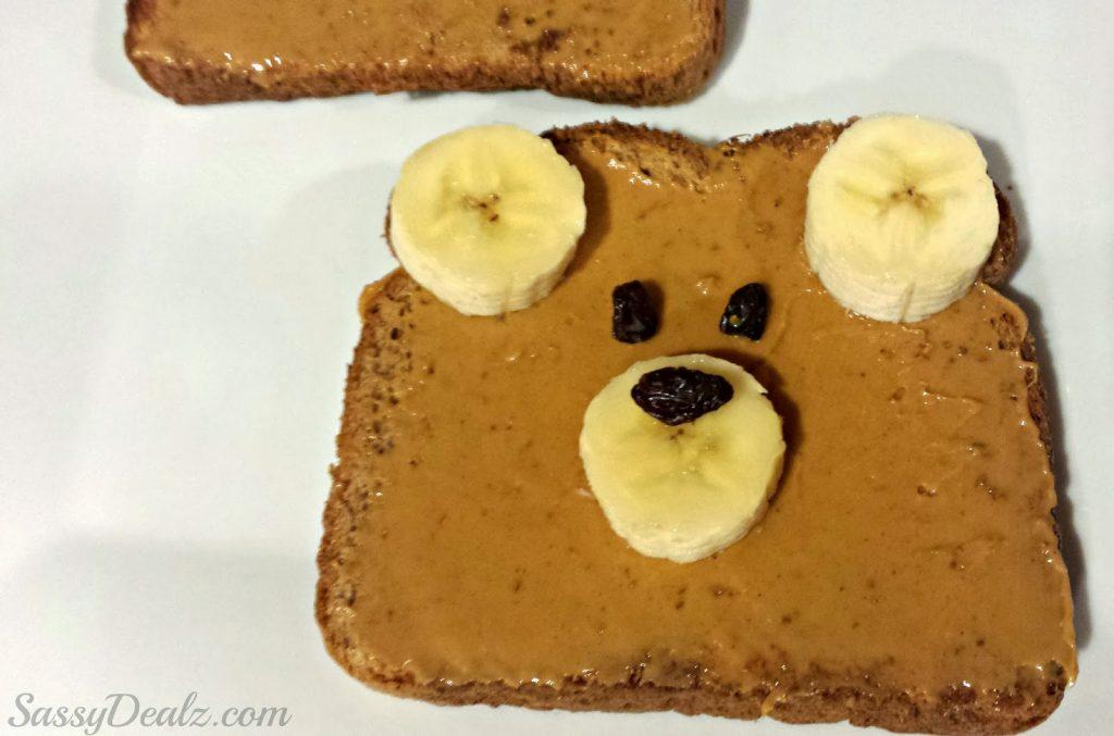 Teddy Bear Toast.So cute! Great for an after school snack or quick breakfast.