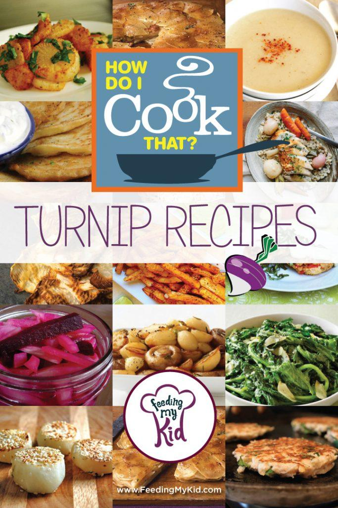 How Do I Cook That? Turnip Recipes. Turnips are such an underrated root vegetable! They are an awesome alternative to potatoes to many dishes. Check out our list of recipes to get your creative juices flowing.