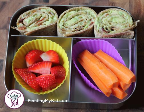 Back to School Lunch Ideas- Bacon Avocado Roll Ups-Crunchy and Creamy, these are super easy and super delicious. Use leftover bacon from breakfast!