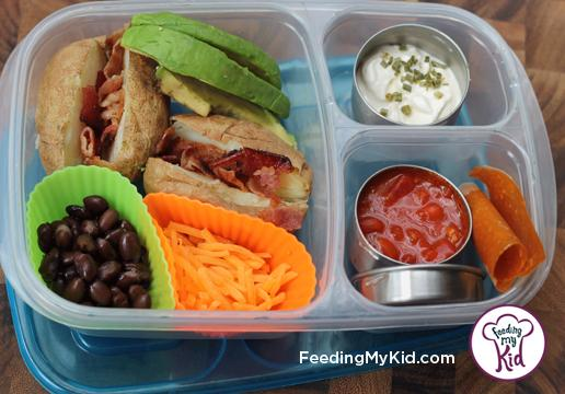 Back to School Lunch Ideas- Build Your Own Baked Potato. Mini potatoes make this so easy! Can literally be topped with anything!