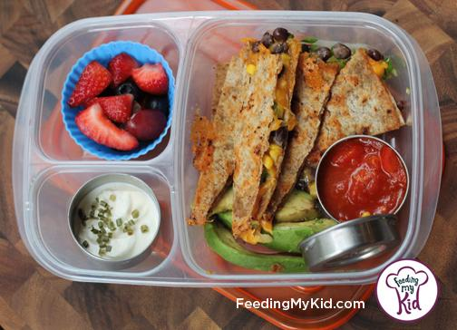 Back to School Lunch Ideas -Black Bean Quesadilla. The kids will love these fun homemade mexican inspired tortillas!