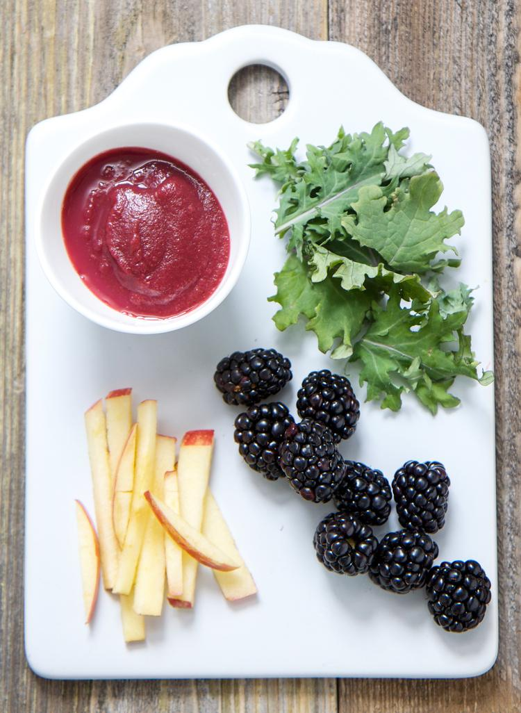 Blackberry,Kale & Apple Puree