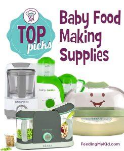 Feeding My Kid's Top Picks: Baby Food Making Supplies. With a few simple tools, you can create healthy, natural and organic homemade baby food. Check out some of our favorite supplies to get you started!