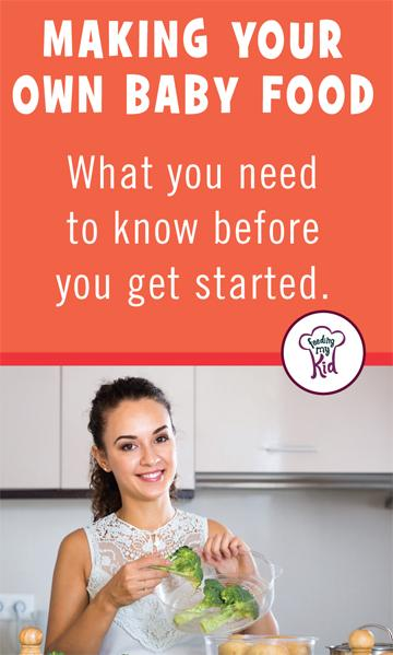 Learn how to make baby food in this amazing article! Feeding My Kid is a website for parents, filled with all the information you need about how to raise your kids, from healthy tips to nutritious recipes. #parenting #babyfood