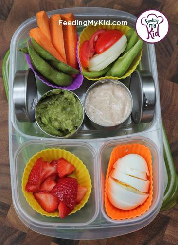 Back to School Lunch Ideas- Veggie and Fruit Dipper Box. What kid doesn't love to dip?1 They will be the envy of the lunch room!