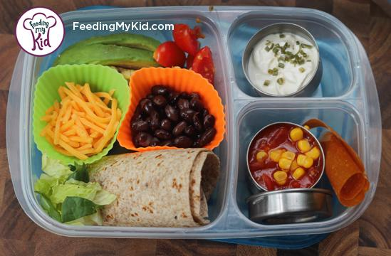 Back to School Lunch Ideas- Make Your Own Taco Bar. Kids will love this lunch!