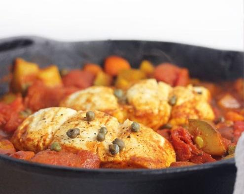 Rosh Hashanah- One Pan Moroccan Fish