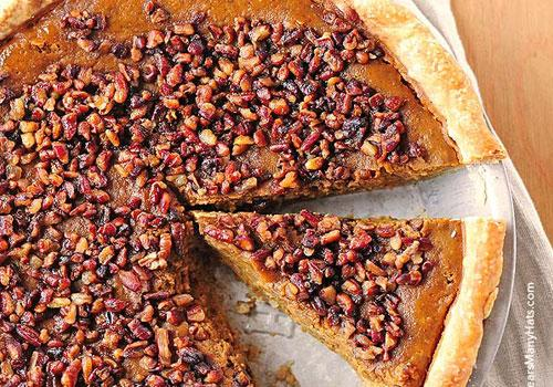 Pumpkin Desserts- Pumpkin Pie With Toasted Pecan Praline Topping.pumpkin desserts, pumpkin dessert recipes