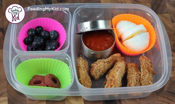 Back to School Lunch Ideas- Parmesan Zucchini Fry Dippers. A great alternative to the traditional french fry.