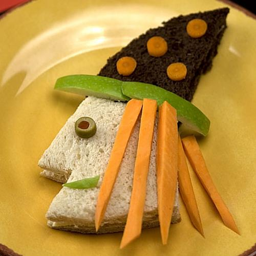 Halloween Witch Party Sandwich