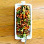 Orange Glazed Brussels Sprouts And Butternut Squash