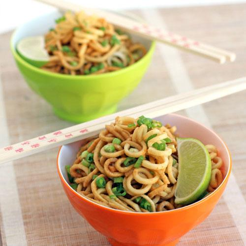 Ginger Garlic Parsnip Noodles