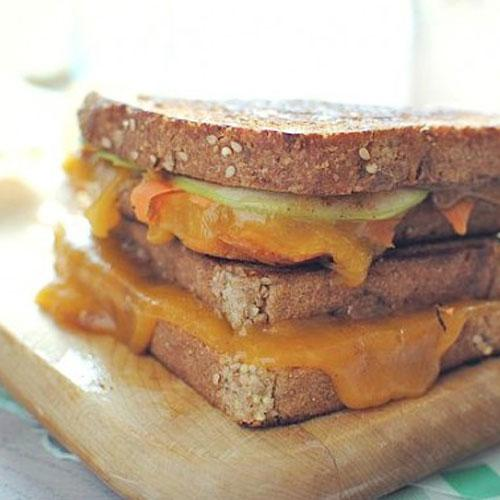 Grilled Almond Butter Cheese Sandwich