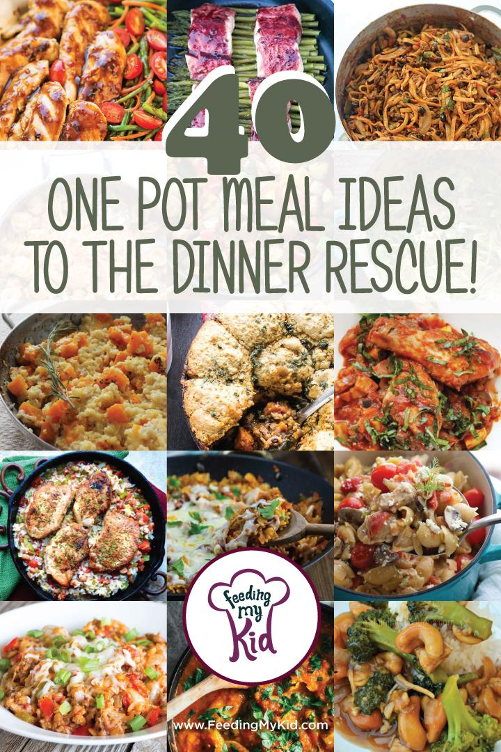 40 One Pot Meals Ideas to the Dinner Rescue. These recipes can be a life savor for those busy nights. These easy dinner recipes make home cooking so easy. Be the dinner hero with these delicious dinner recipes. Try a different one Monday - Friday.