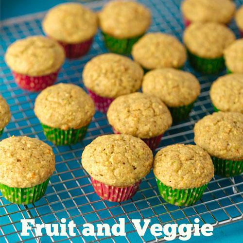 Power Packed Fruit And Veggie Muffin