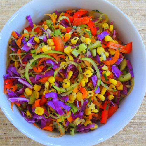 Raw Spicy Zoodle Bowl